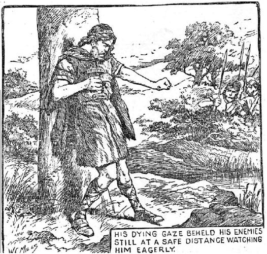 Cú Chulainn's death by Walter C. Mills