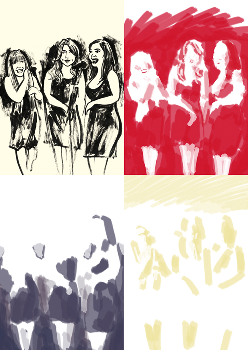 The Jazzabelles colour separations